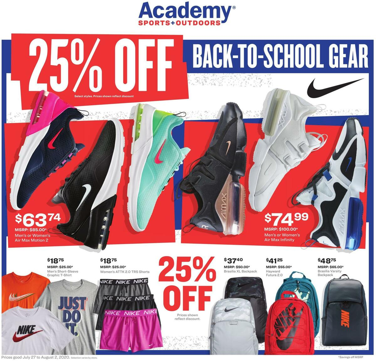 Academy Sports + Outdoors Weekly Ad from July 27