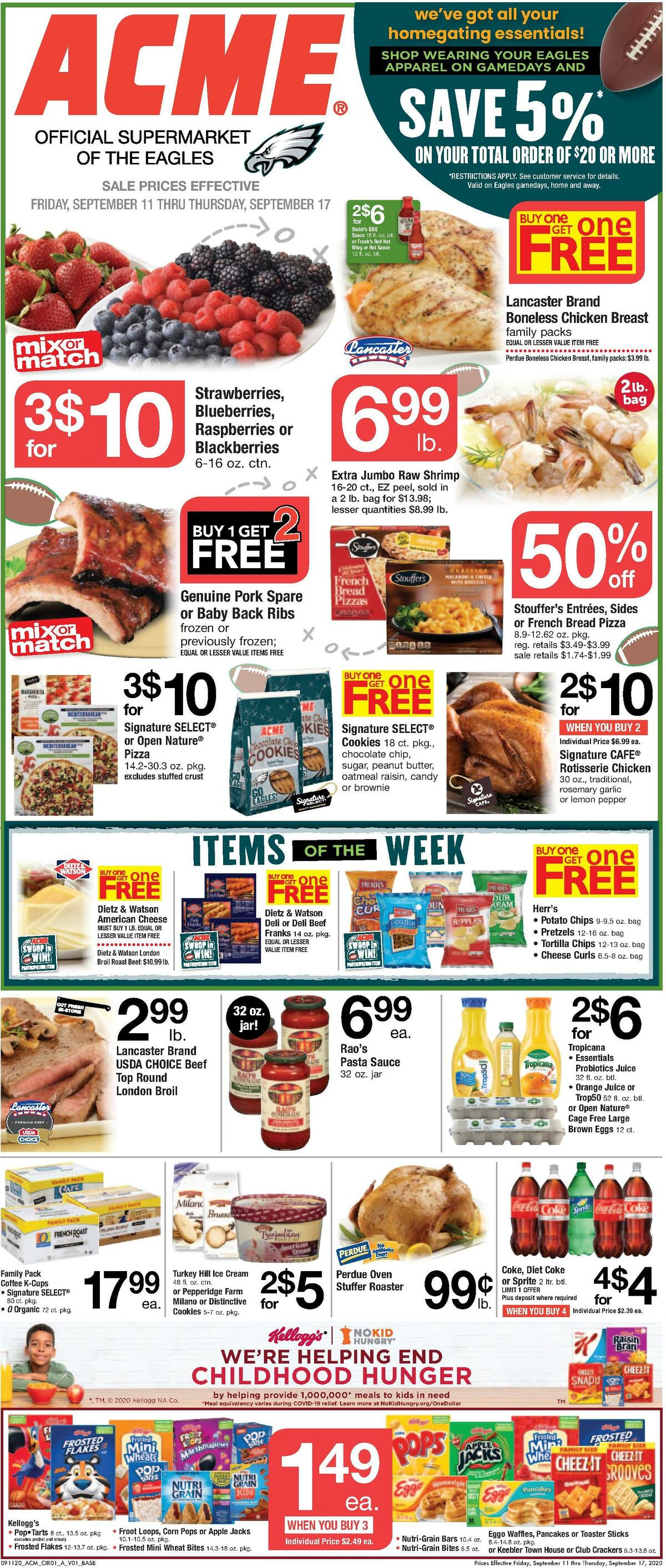 ACME Markets Weekly Ad from September 11