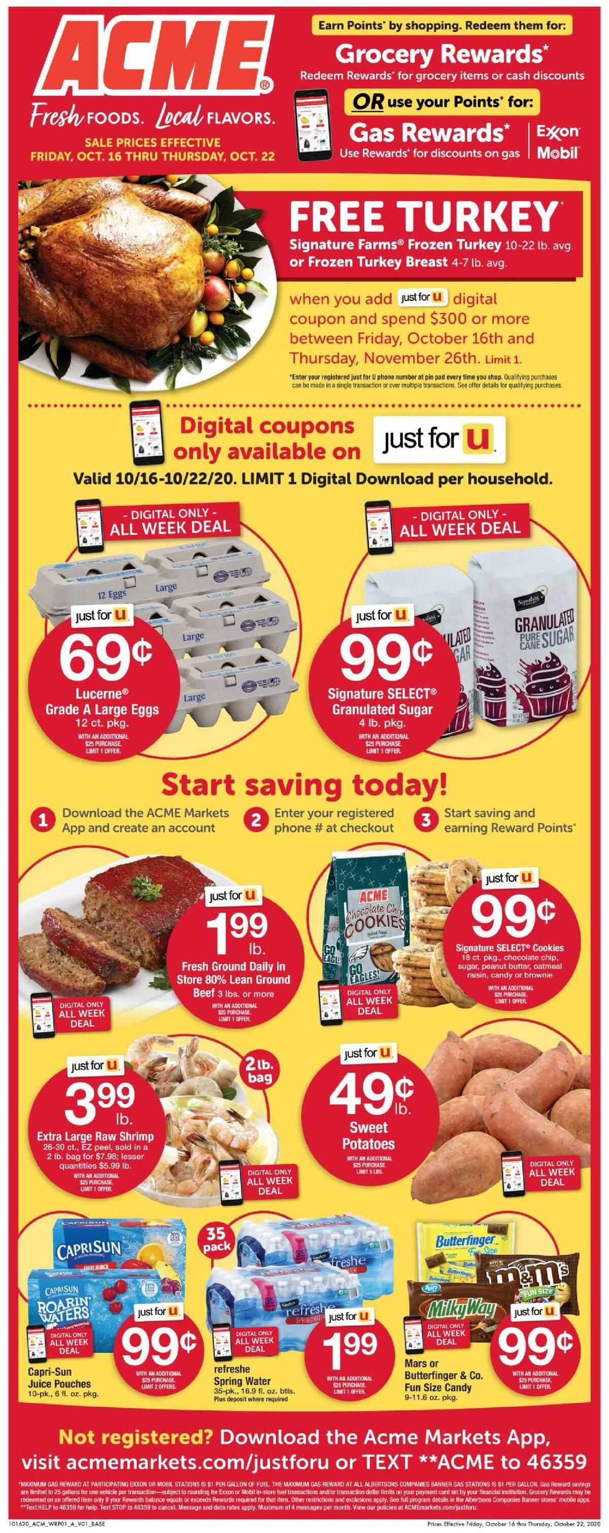 ACME Markets Weekly Ad from October 16