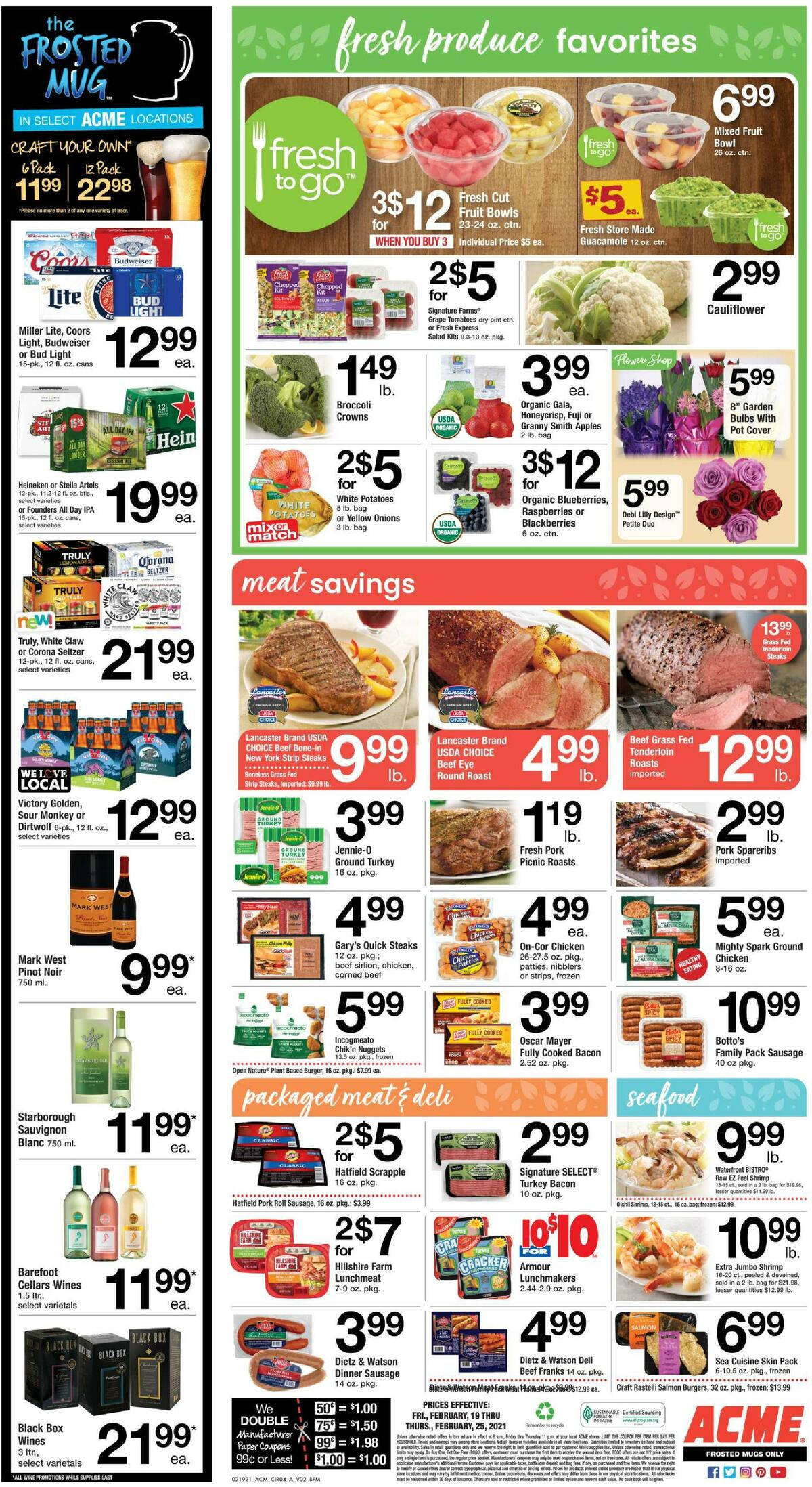 ACME Markets Weekly Ad from February 19