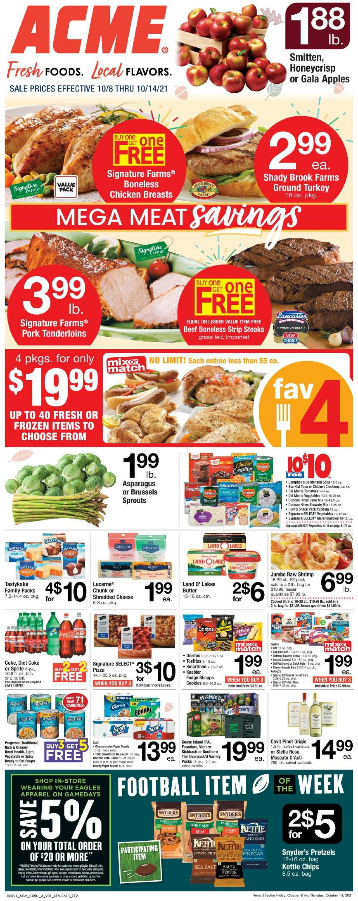 ACME Markets Weekly Ad from October 8