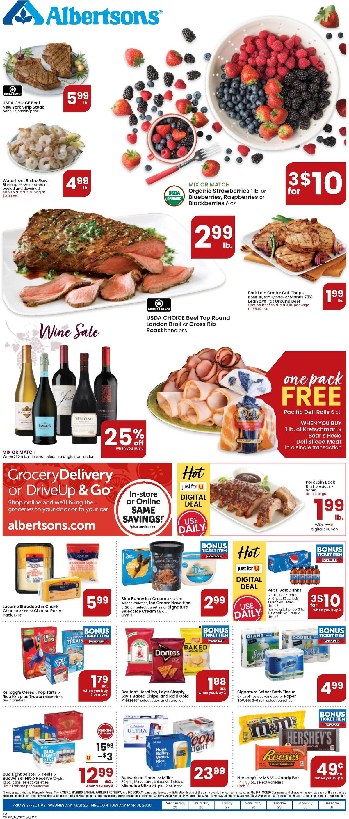 Albertsons Weekly Ad from March 25