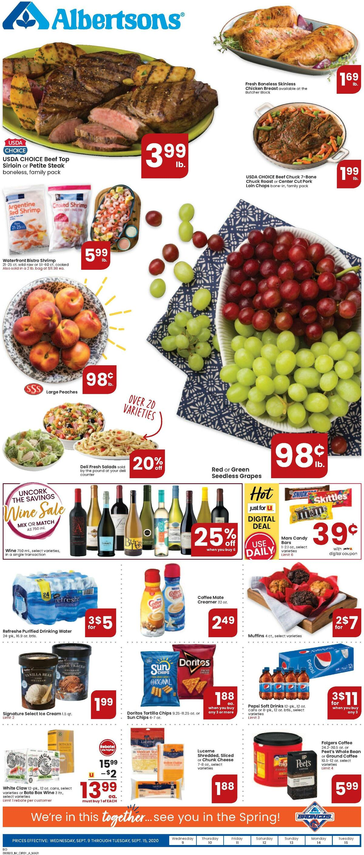 Albertsons Weekly Ad from September 9