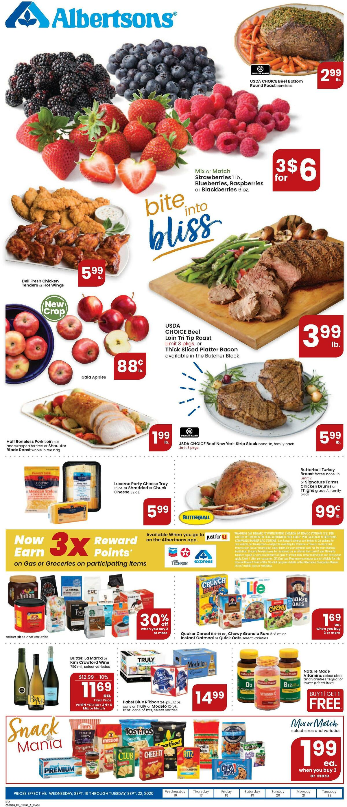 Albertsons Weekly Ad from September 16