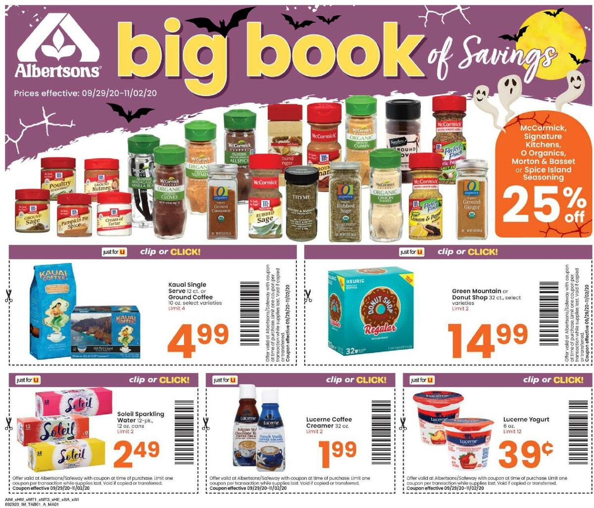 Albertsons Magazine Weekly Ad from September 29