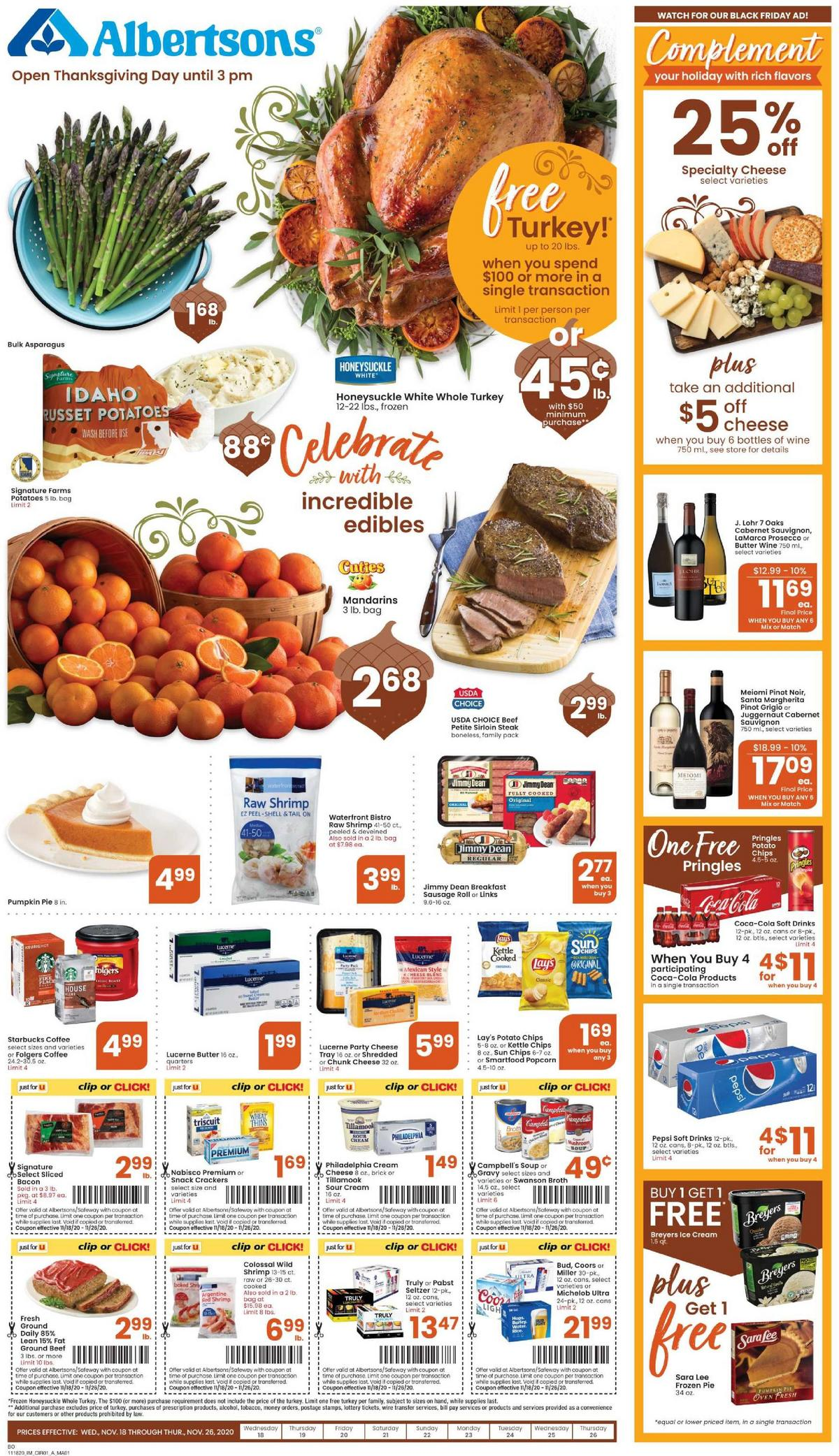 Albertsons Weekly Ad from November 18