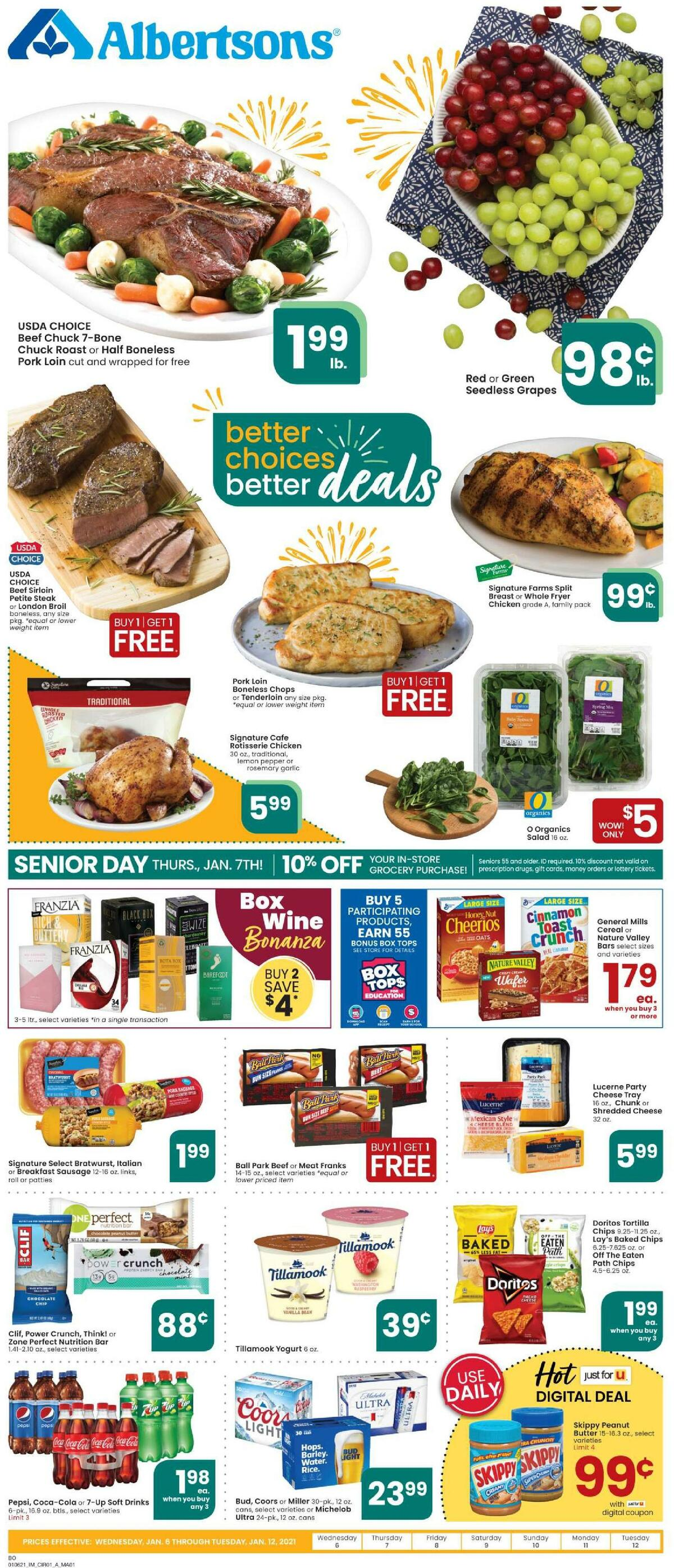 Albertsons Weekly Ad from January 6