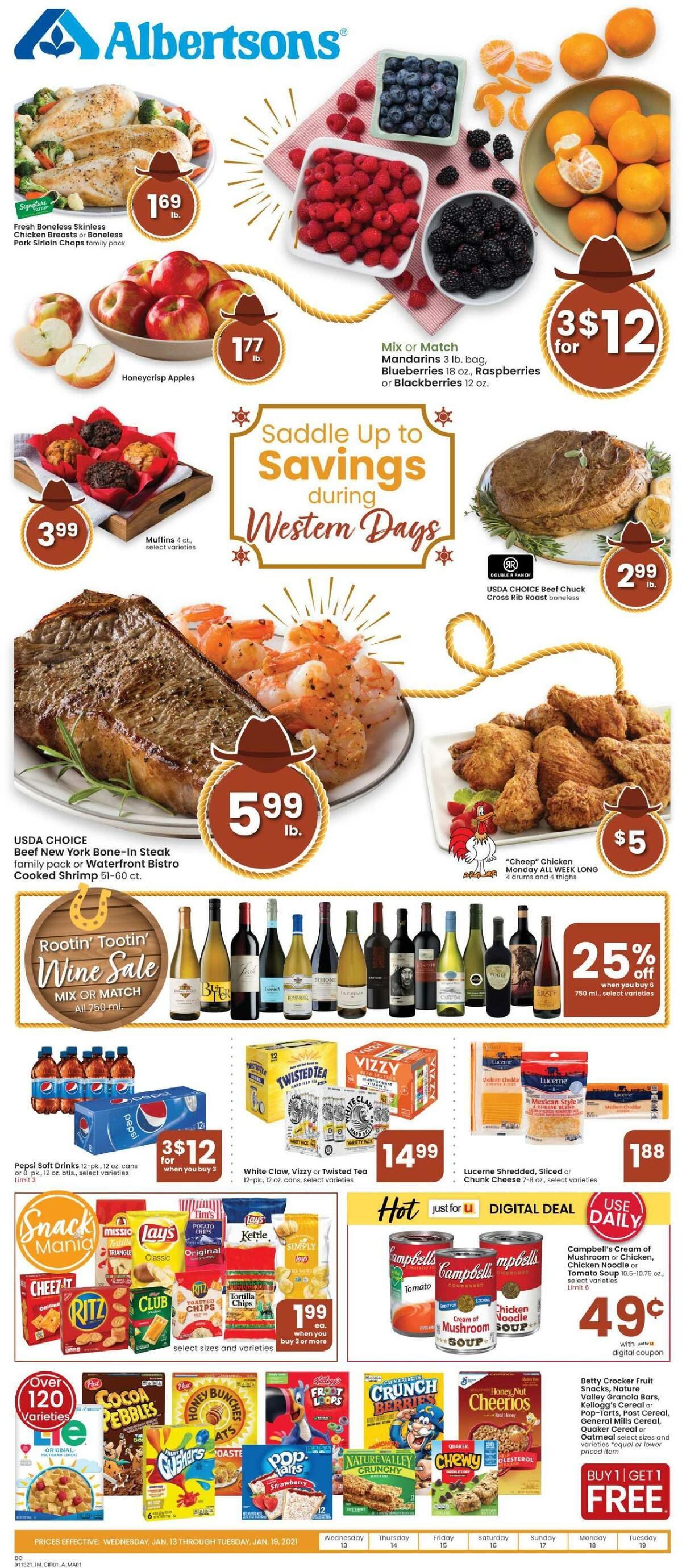 Albertsons Weekly Ad from January 13