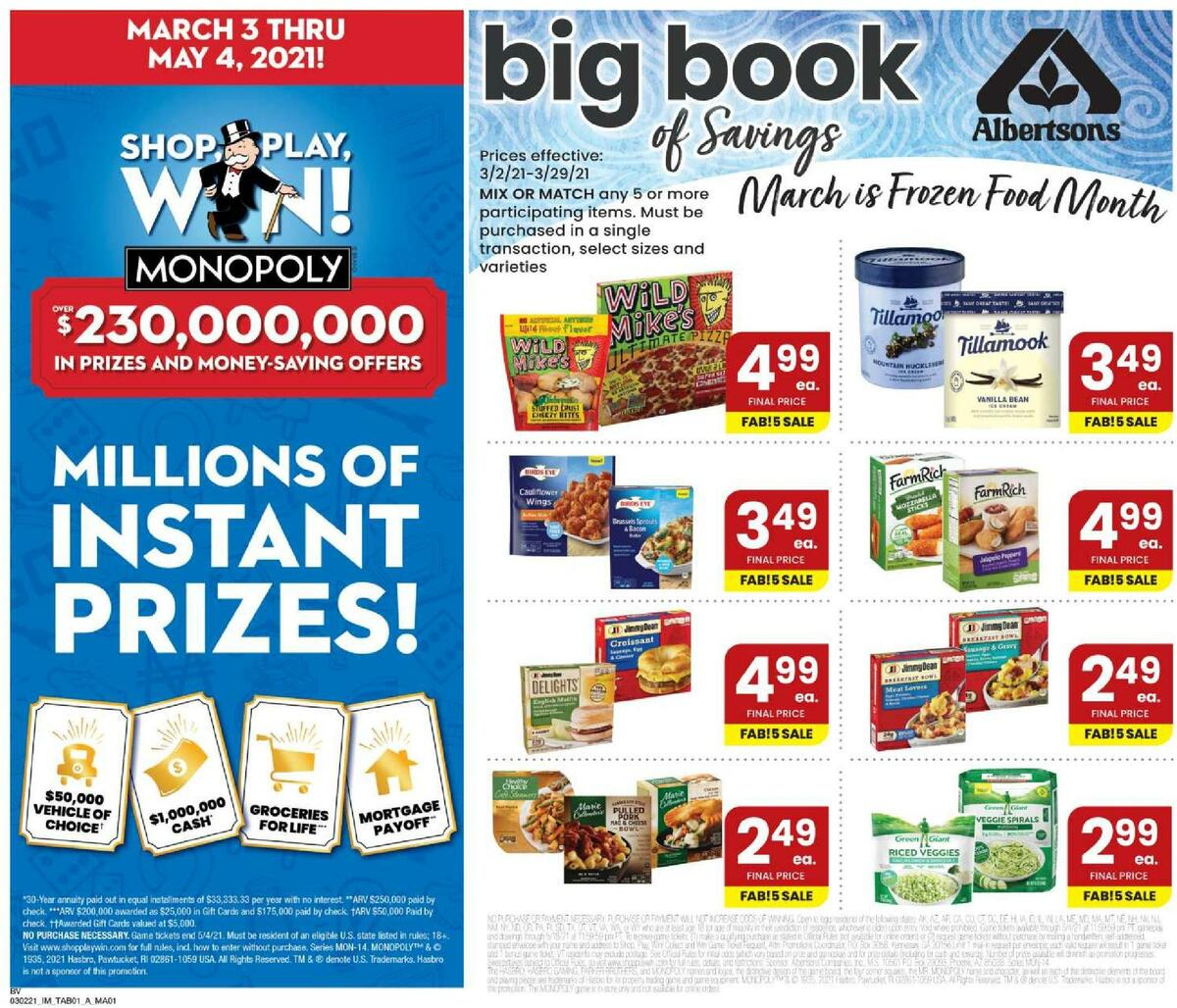 Albertsons Magazine Weekly Ad from March 2