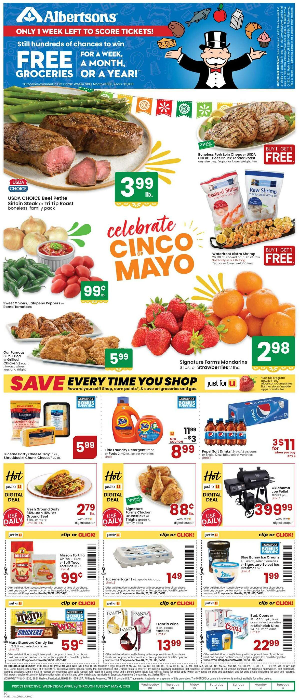 Albertsons Weekly Ad from April 28