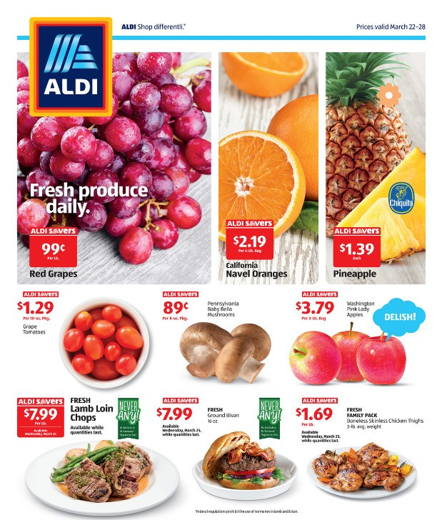 ALDI Weekly Ad from March 22