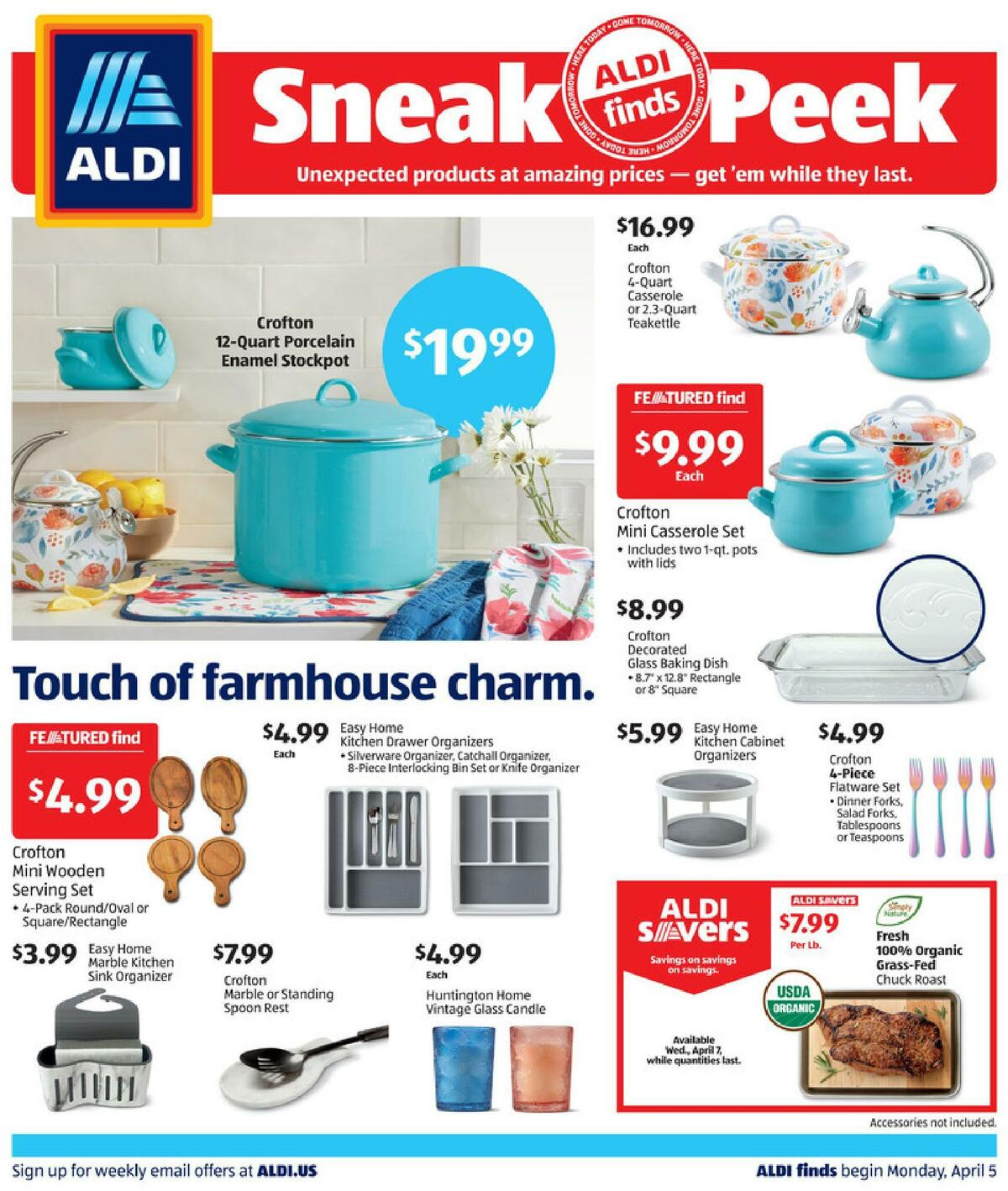 ALDI In Store Ad Weekly Ad from April 4