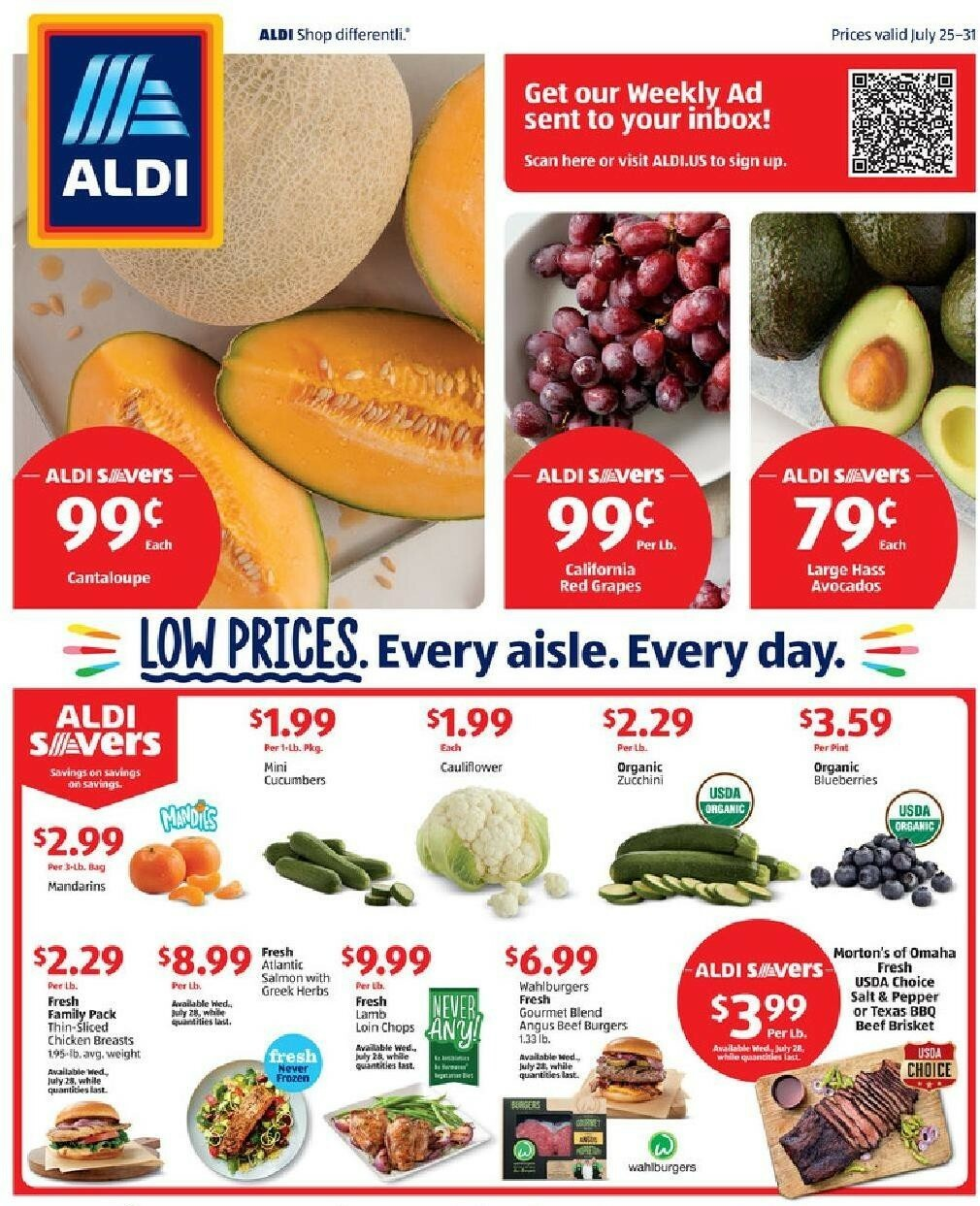 ALDI Weekly Ad from July 25
