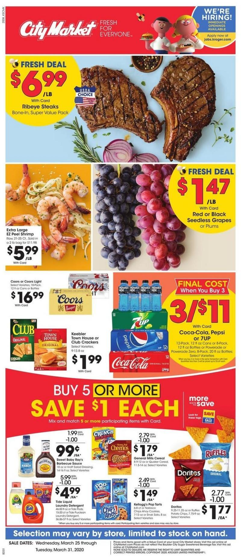 City Market Weekly Ad from March 25