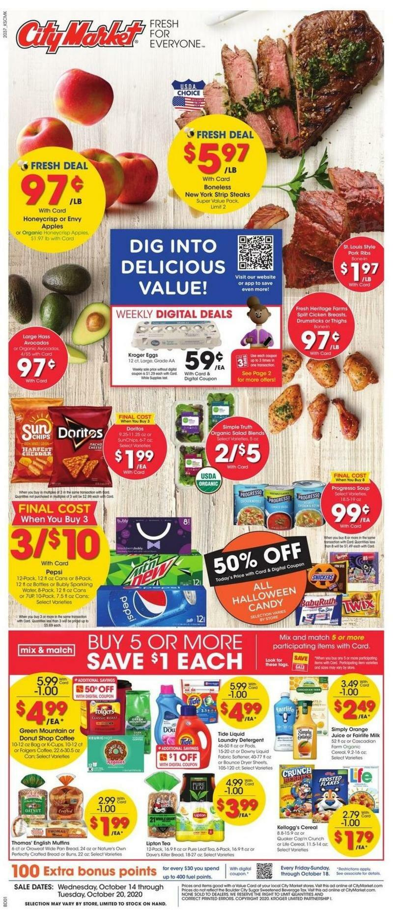 City Market Weekly Ad from October 14