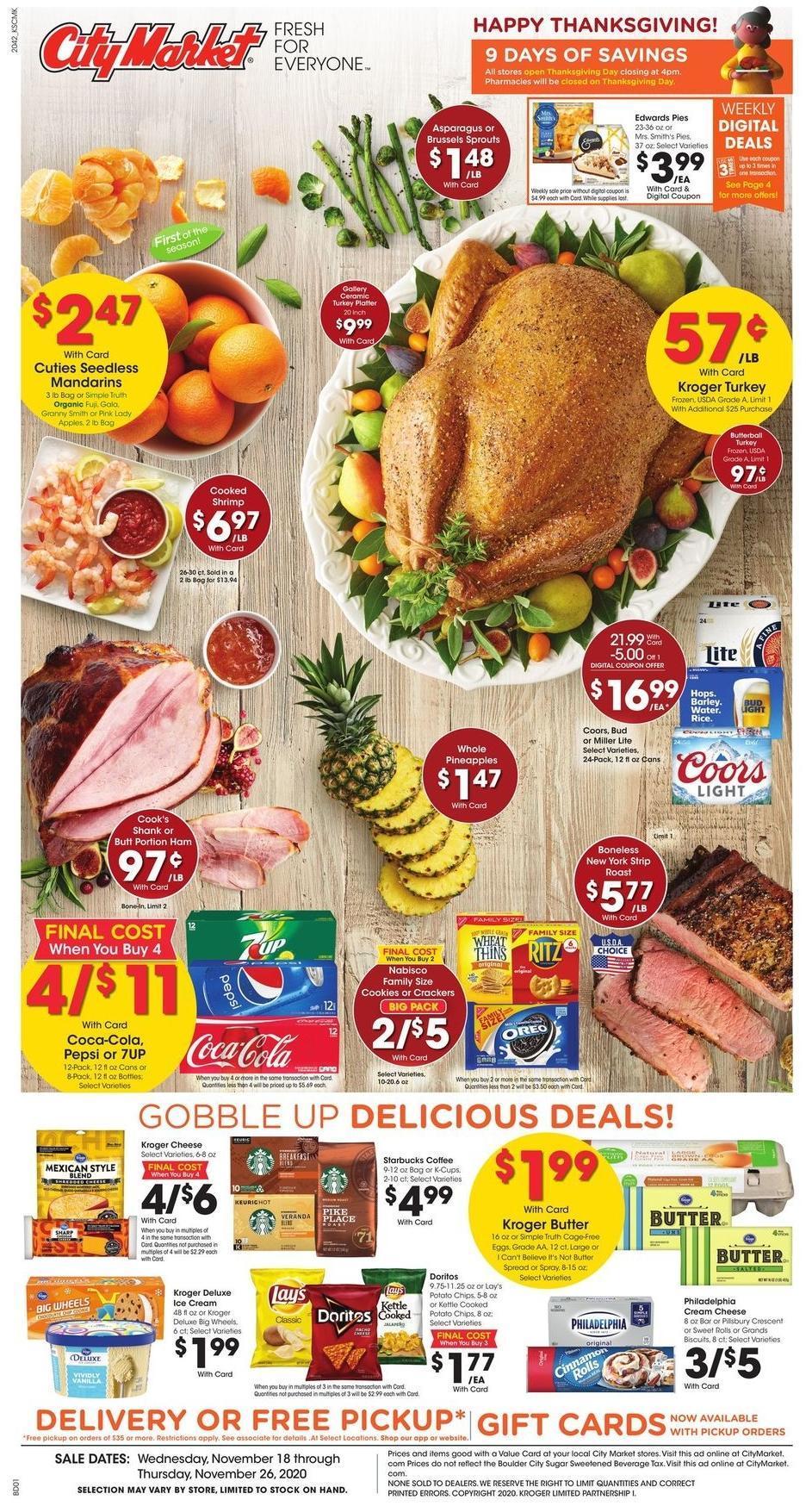 City Market Weekly Ad from November 18