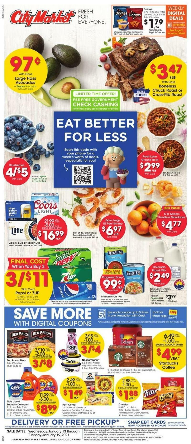 City Market Weekly Ad from January 13