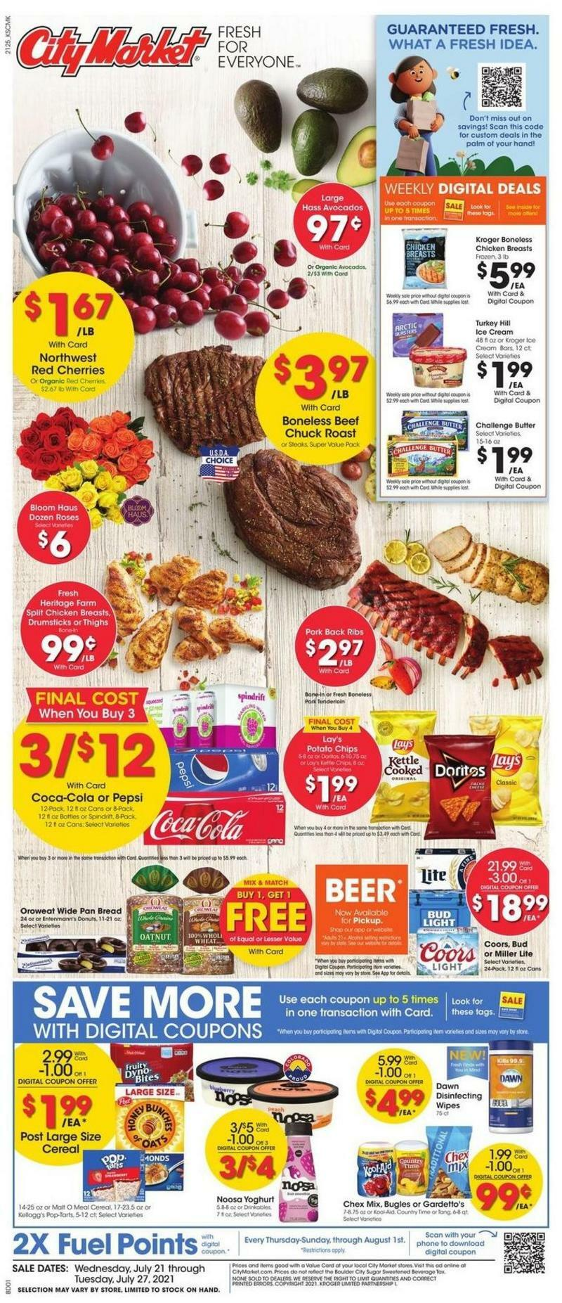 City Market Weekly Ad from July 21
