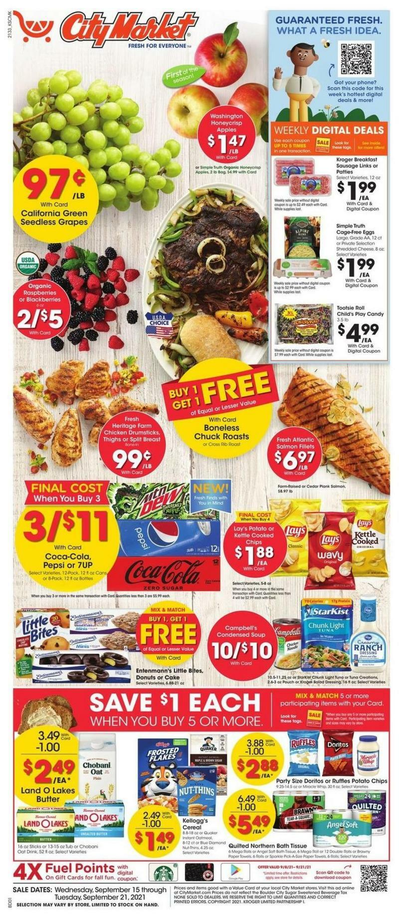 City Market Weekly Ad from September 15