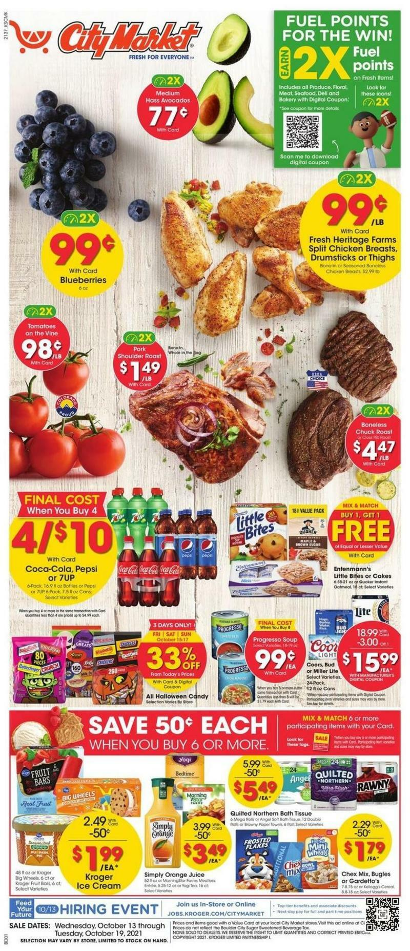 City Market Weekly Ad from October 13