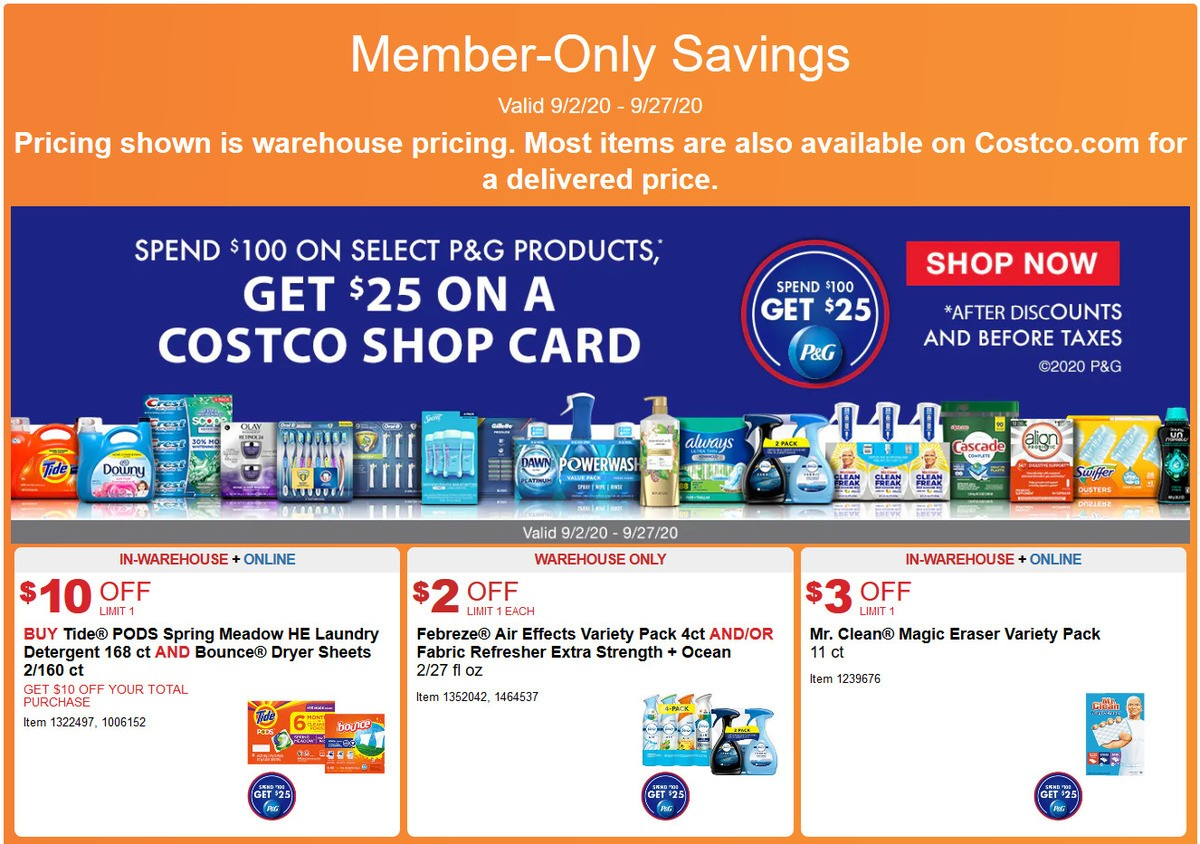 Costco Weekly Ad from September 2