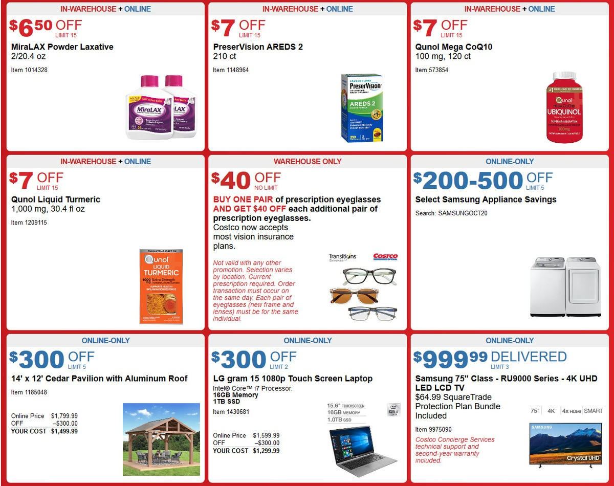 Costco Weekly Ad from September 30