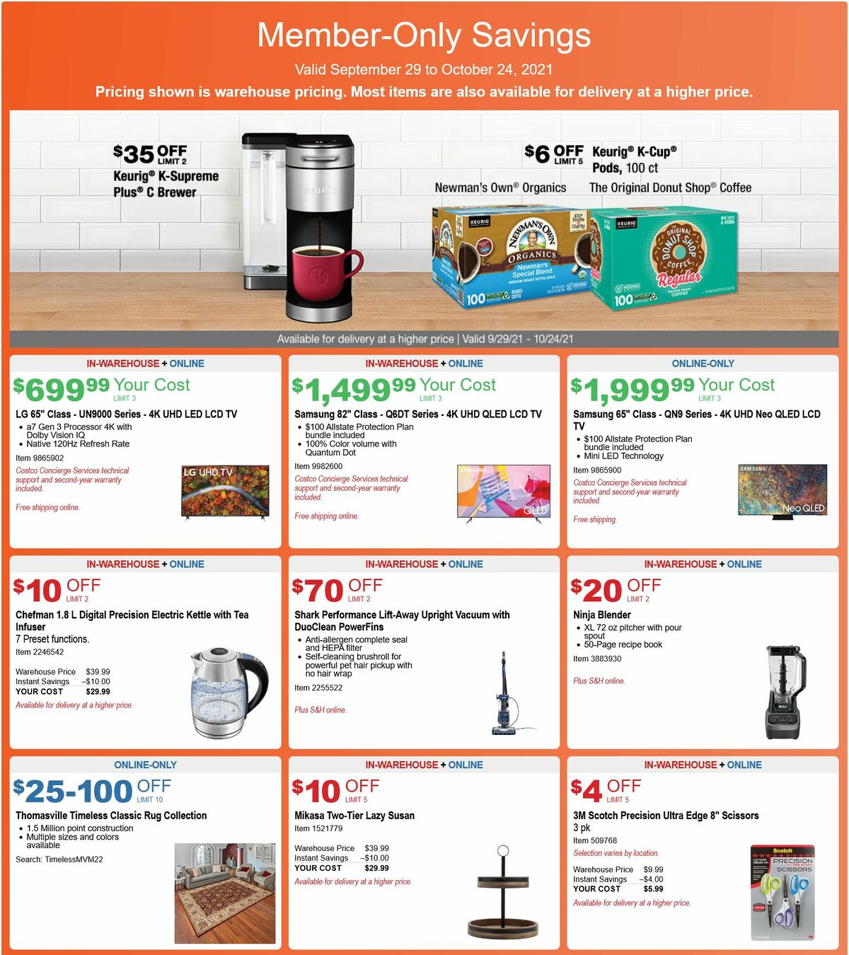 Costco Weekly Ad from September 29