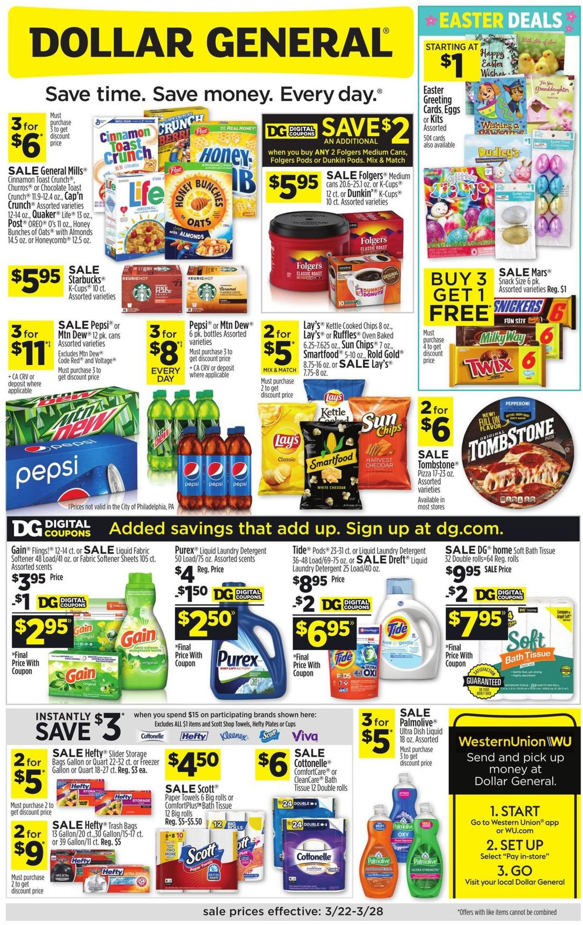 Dollar General Weekly Ad from March 22