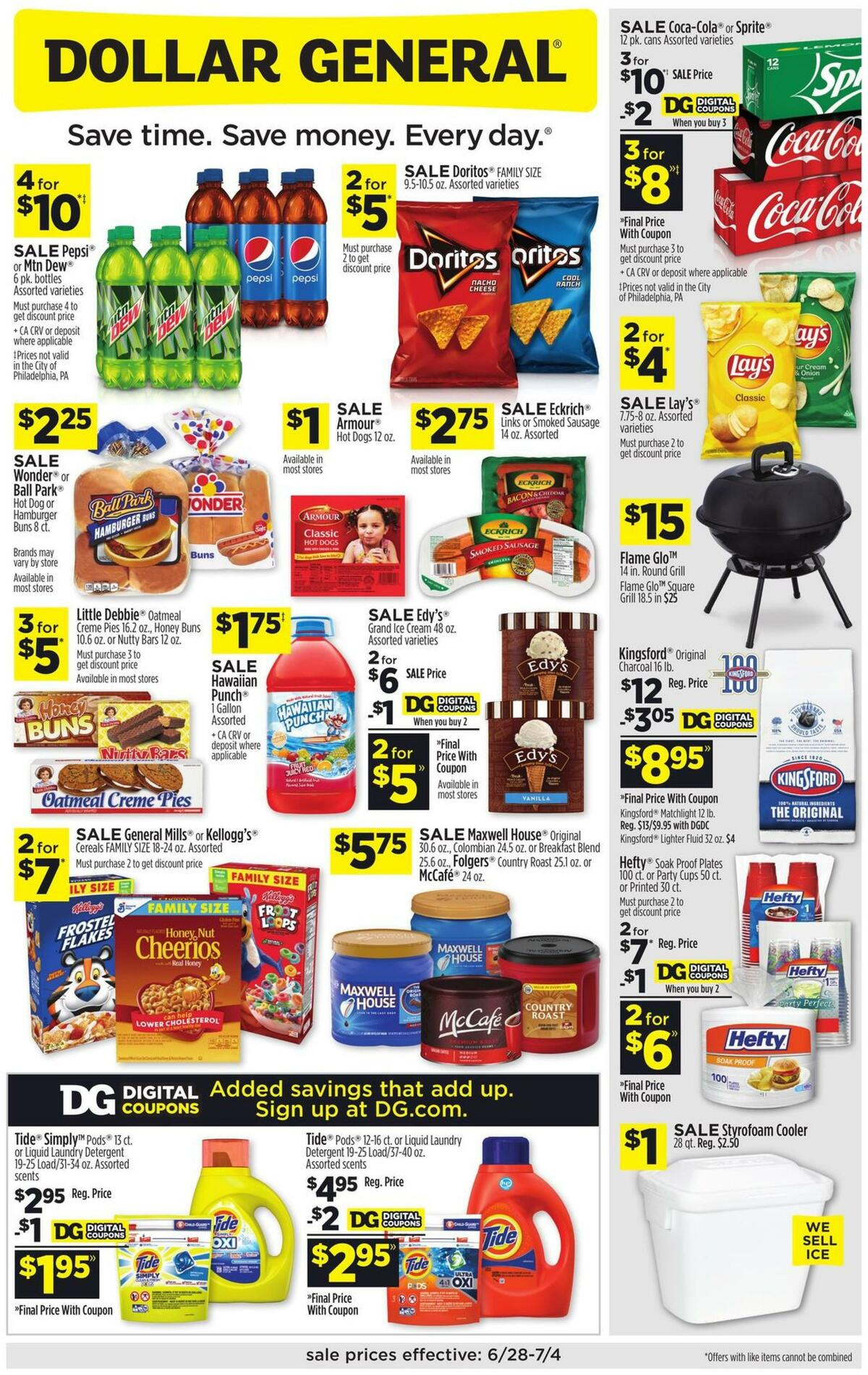Dollar General Weekly Ad from June 28