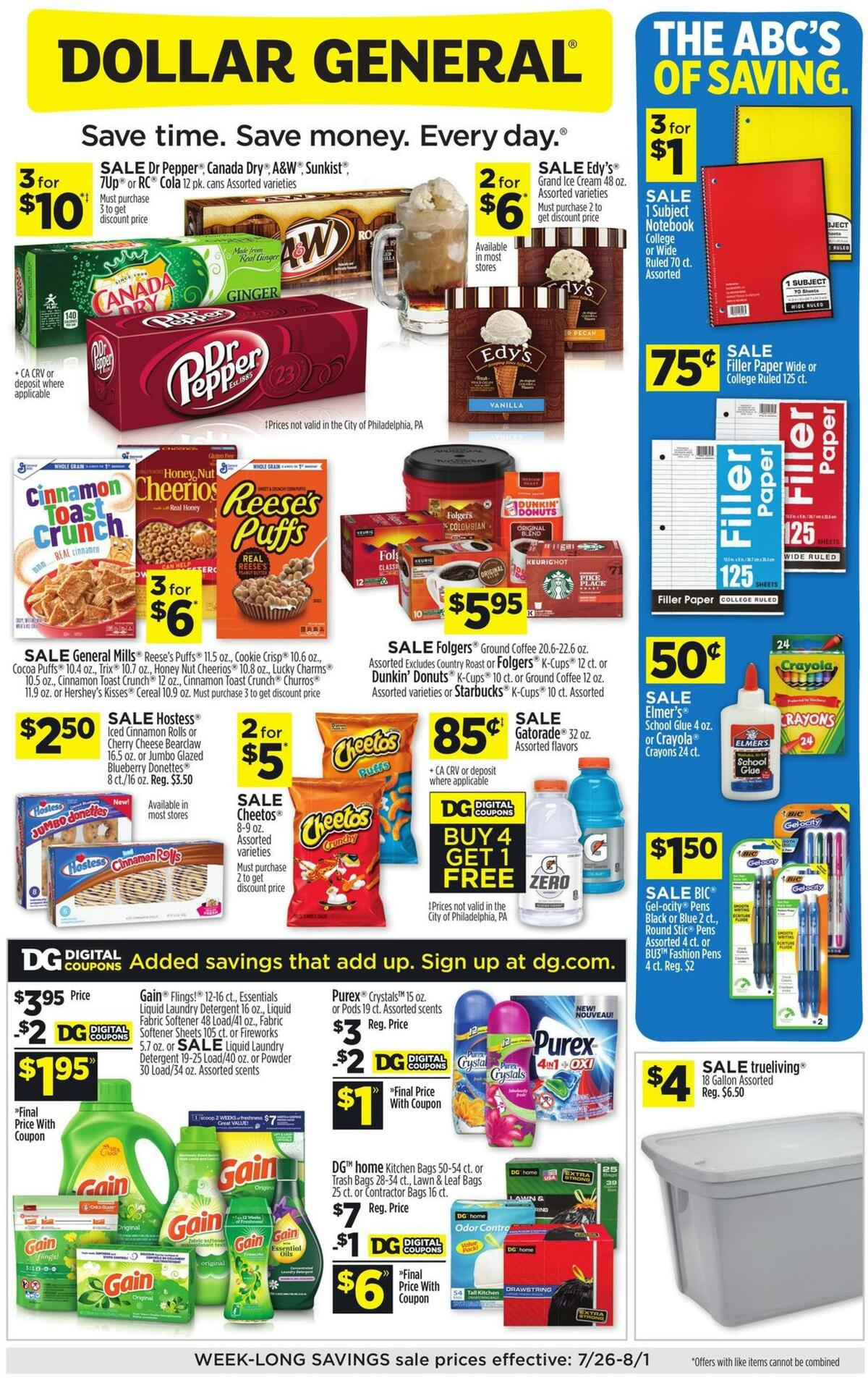 Dollar General Weekly Ad from July 26