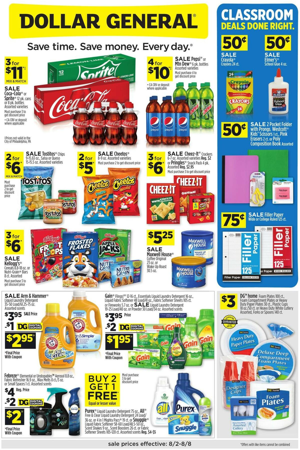 Dollar General Weekly Ad from August 2