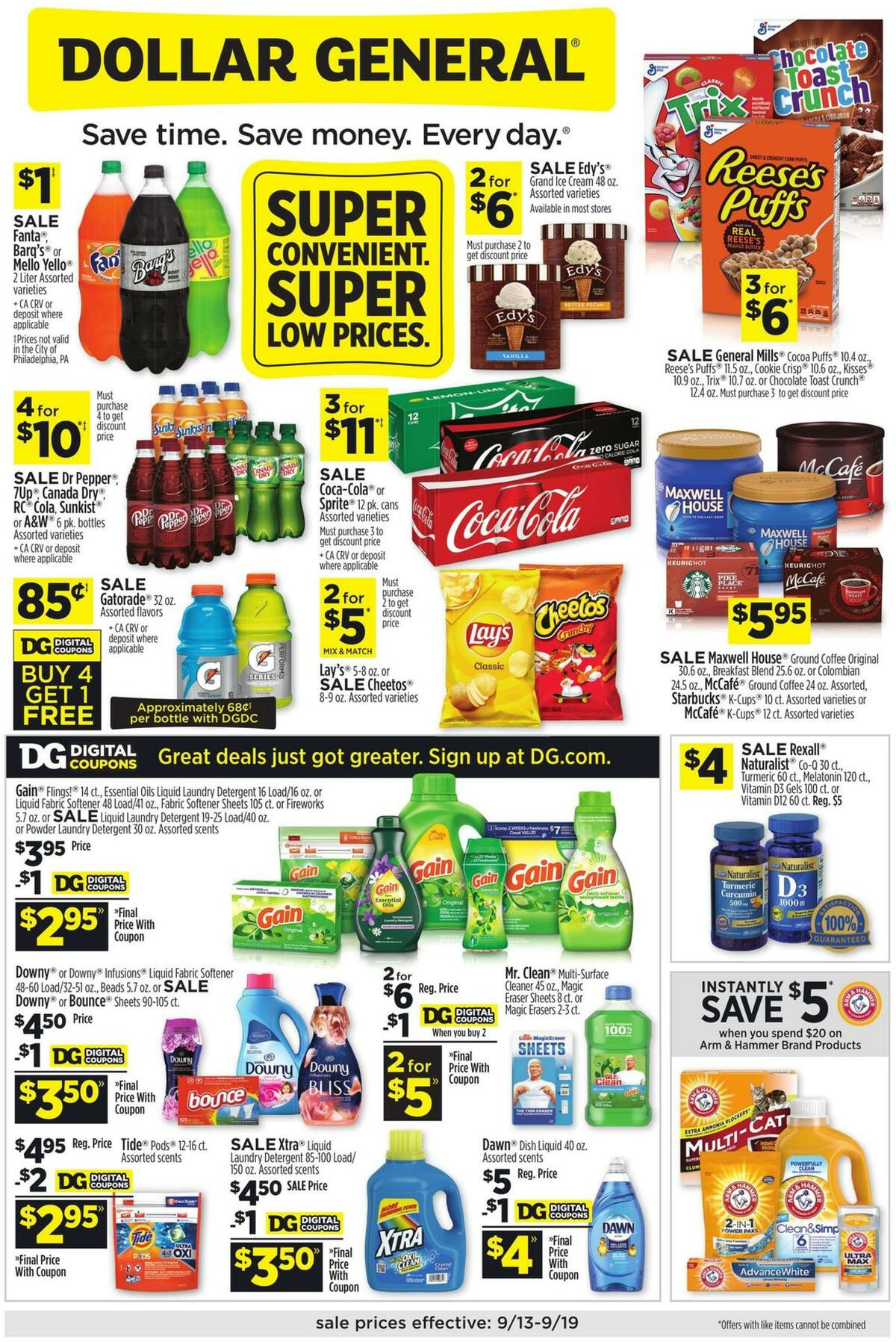 Dollar General Weekly Ad from September 13
