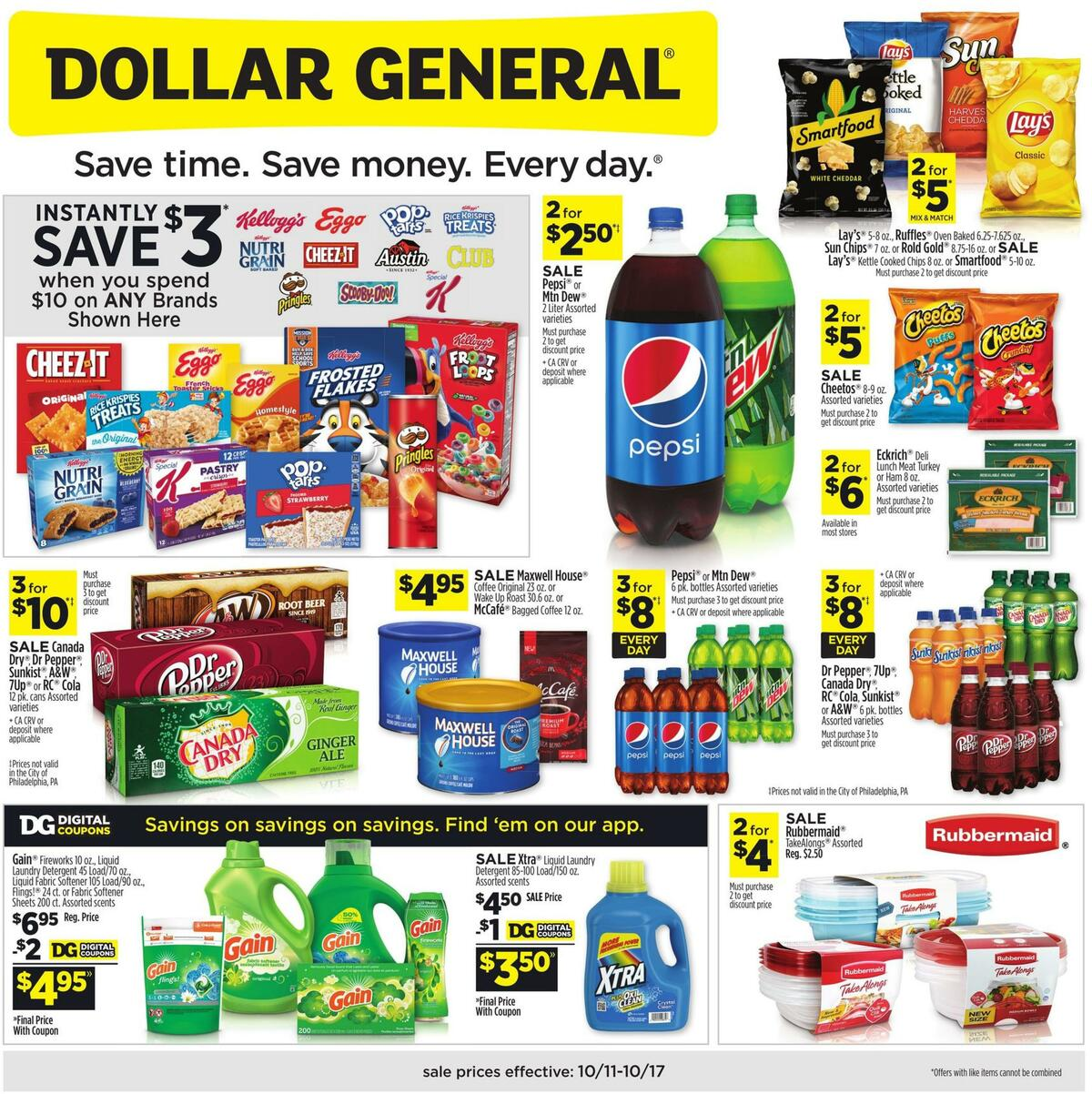 Dollar General Weekly Ad from October 11
