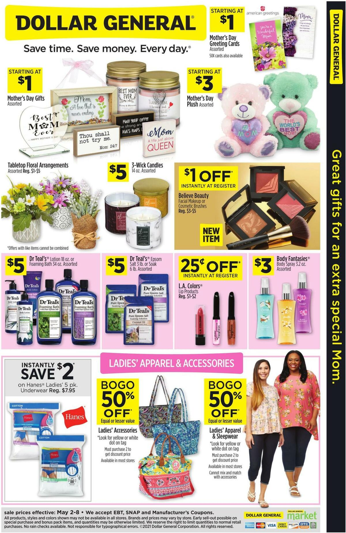 Dollar General Great Gifts For An Extra Special Mom Weekly Ad from May 2