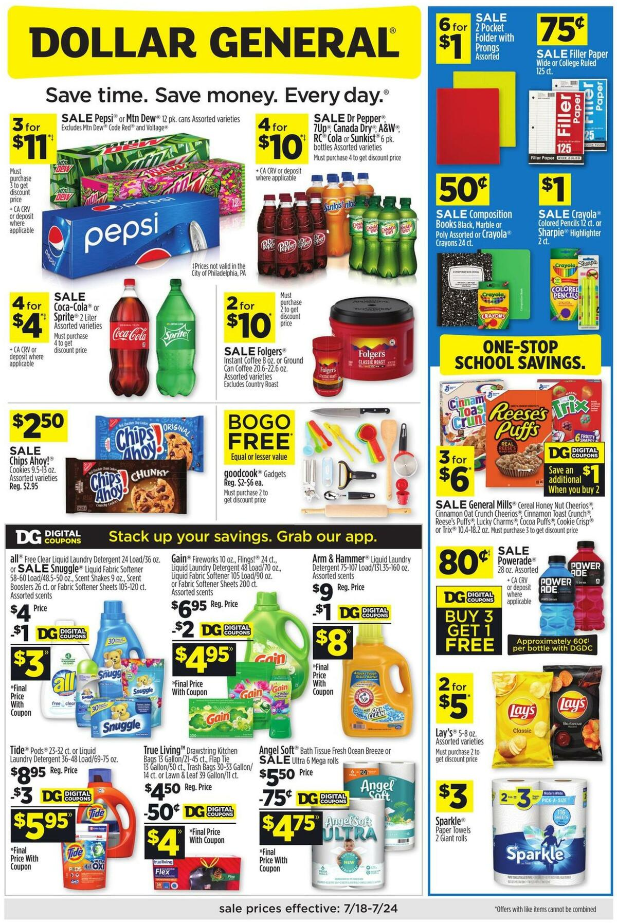 Dollar General Weekly Ad from July 18