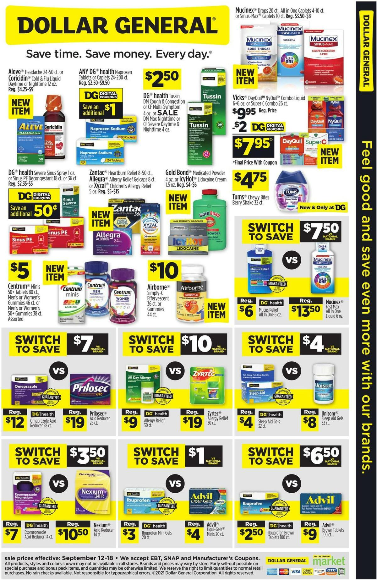 Dollar General Weekly Ad from September 12
