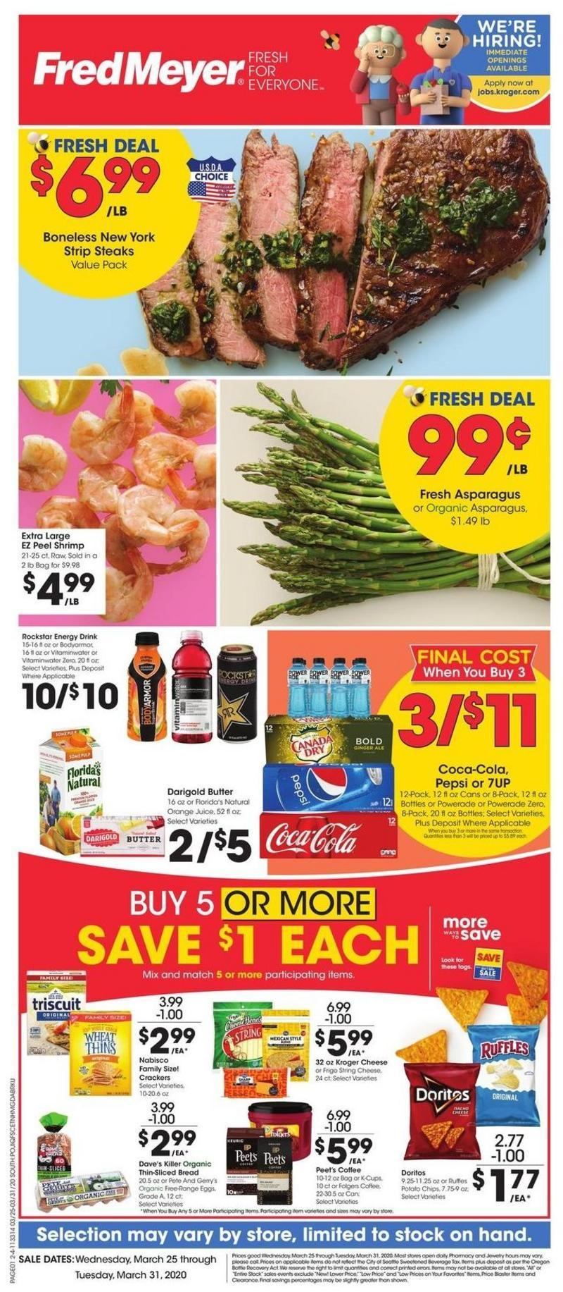 Fred Meyer Weekly Ad from March 25