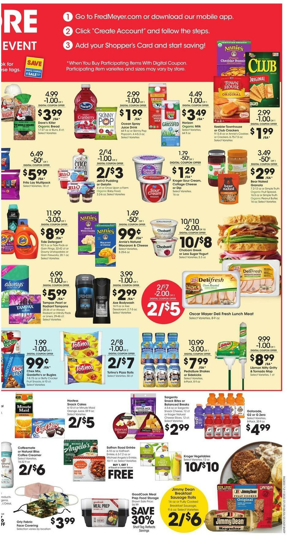 Fred Meyer Weekly Ad from July 29