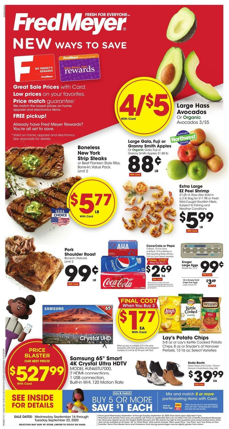 Fred Meyer Weekly Ad from September 16