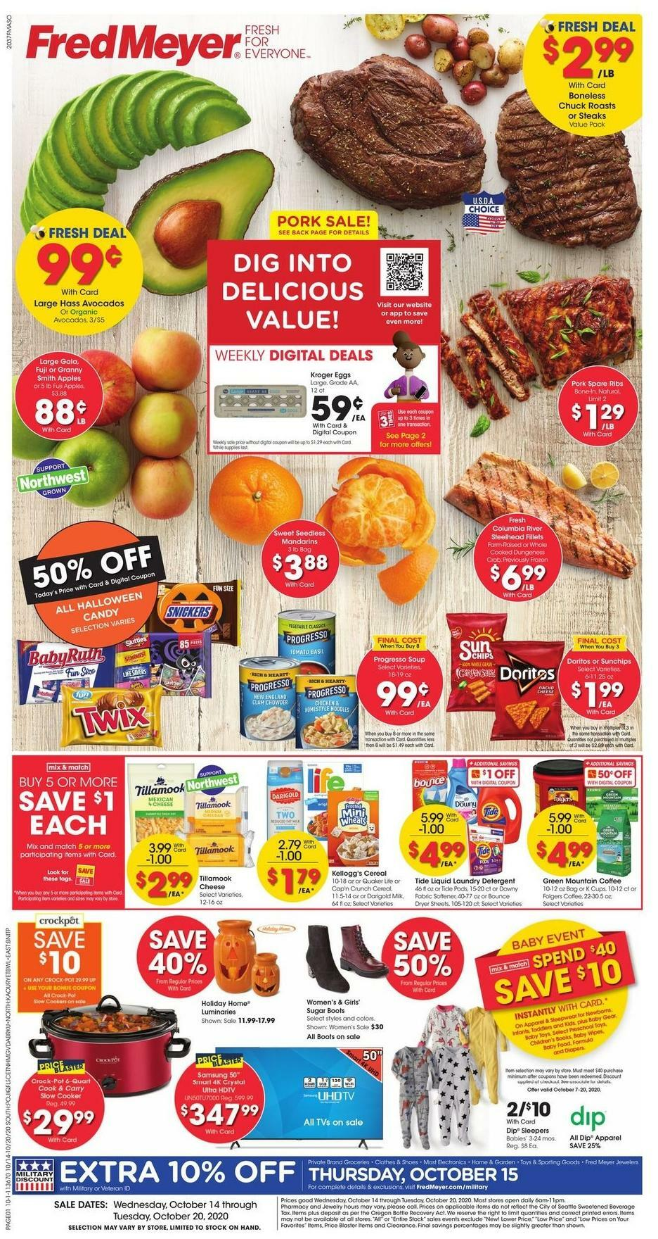 Fred Meyer Weekly Ad from October 14