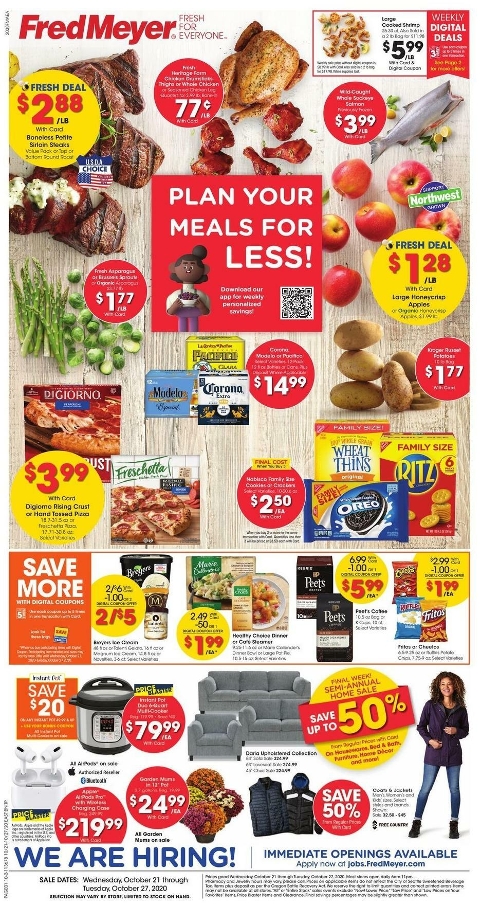 Fred Meyer Weekly Ad from October 21