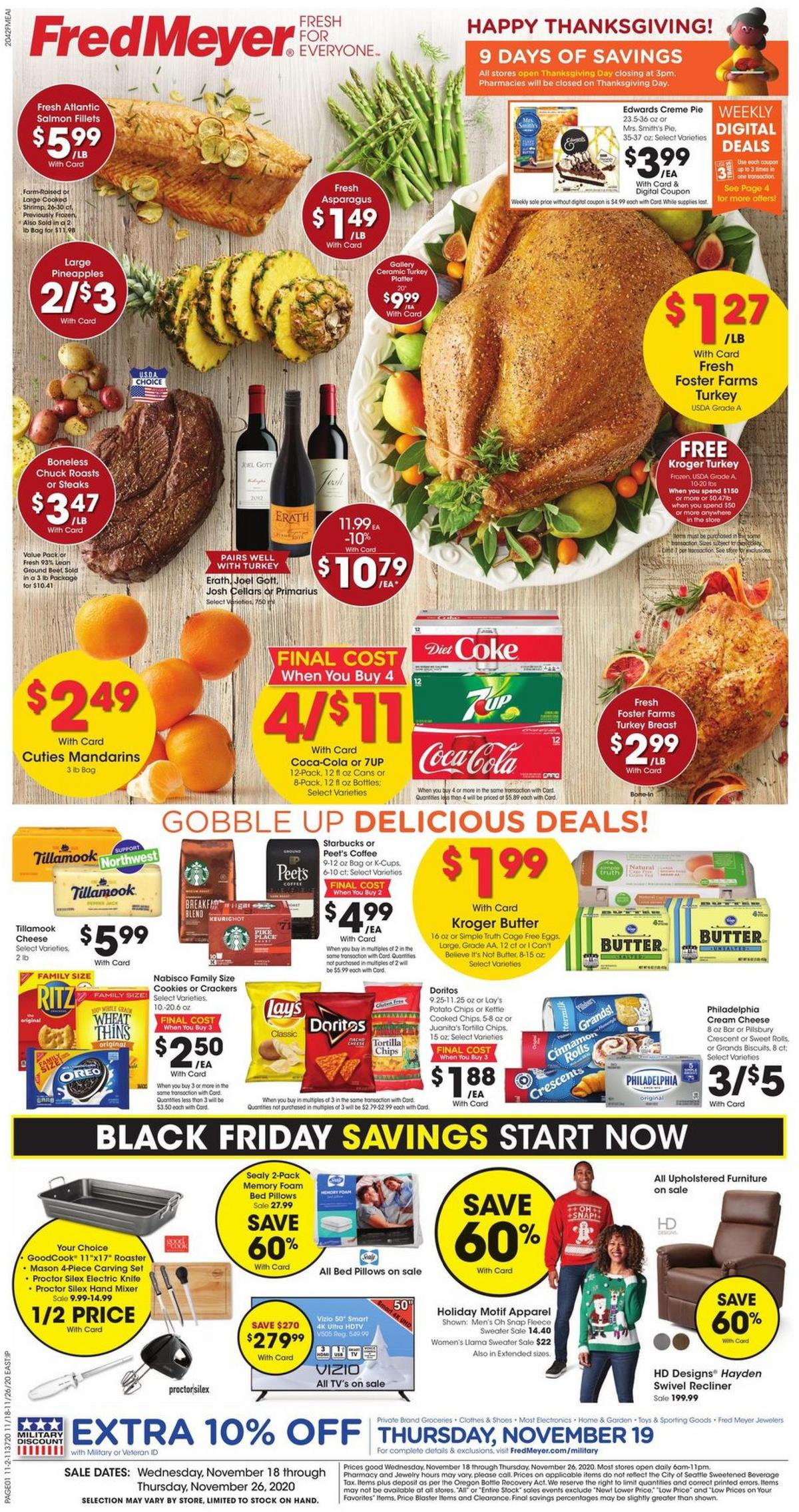 Fred Meyer Weekly Ad from November 18