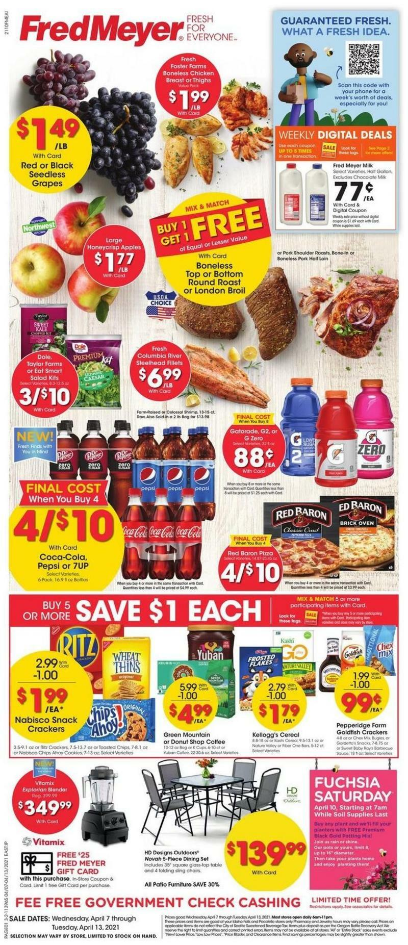 Fred Meyer Weekly Ad from April 7