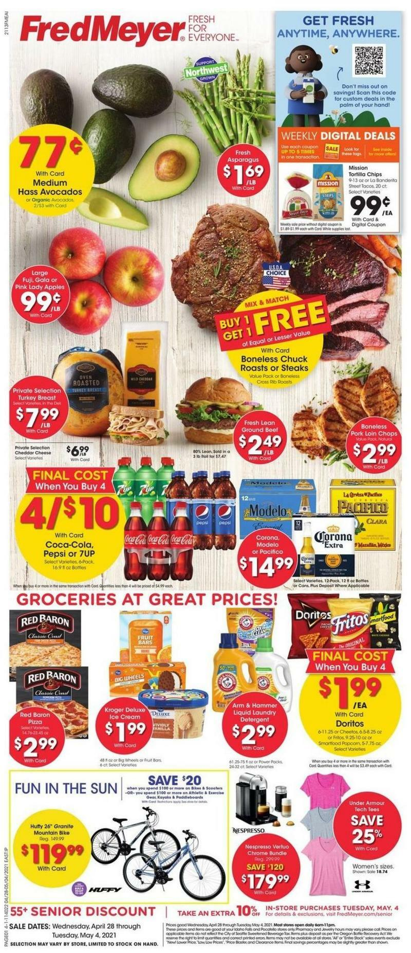 Fred Meyer Weekly Ad from April 28