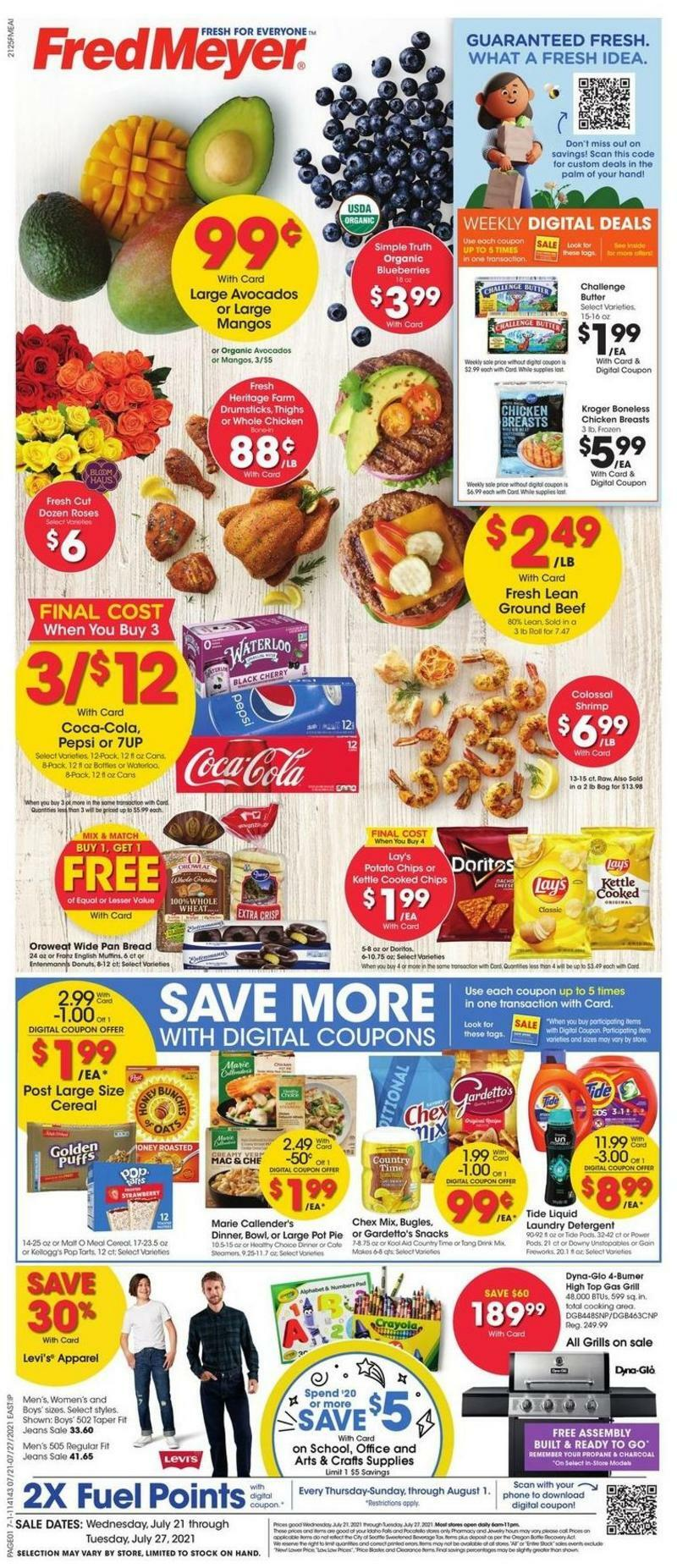 Fred Meyer Weekly Ad from July 21