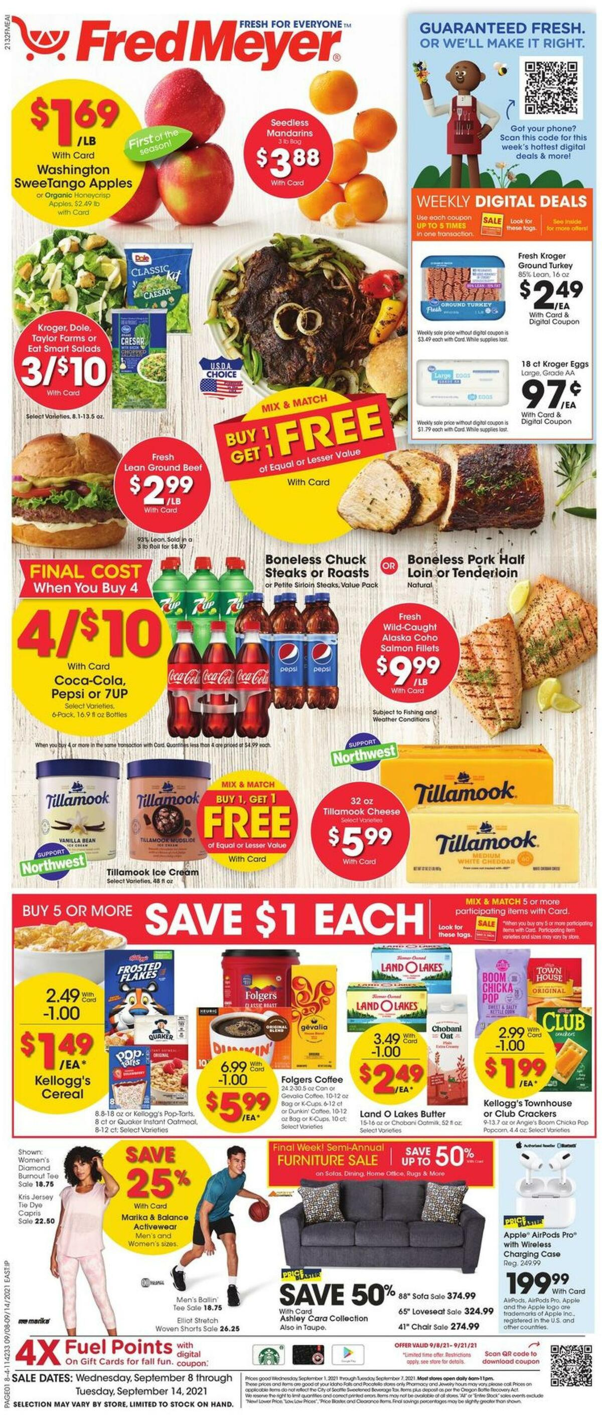 Fred Meyer Weekly Ad from September 8