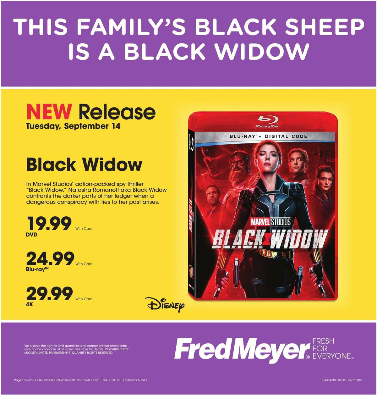 Fred Meyer Weekly Ad from September 13