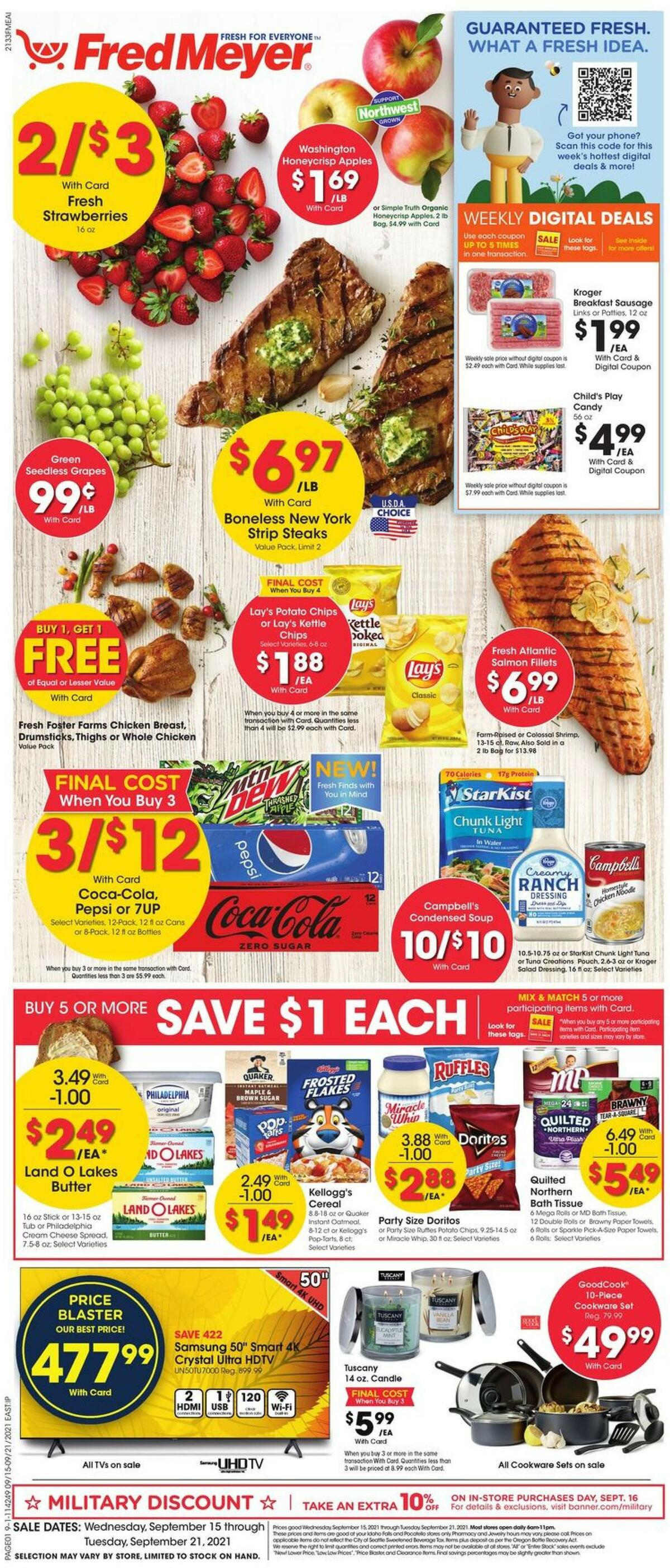 Fred Meyer Weekly Ad from September 15