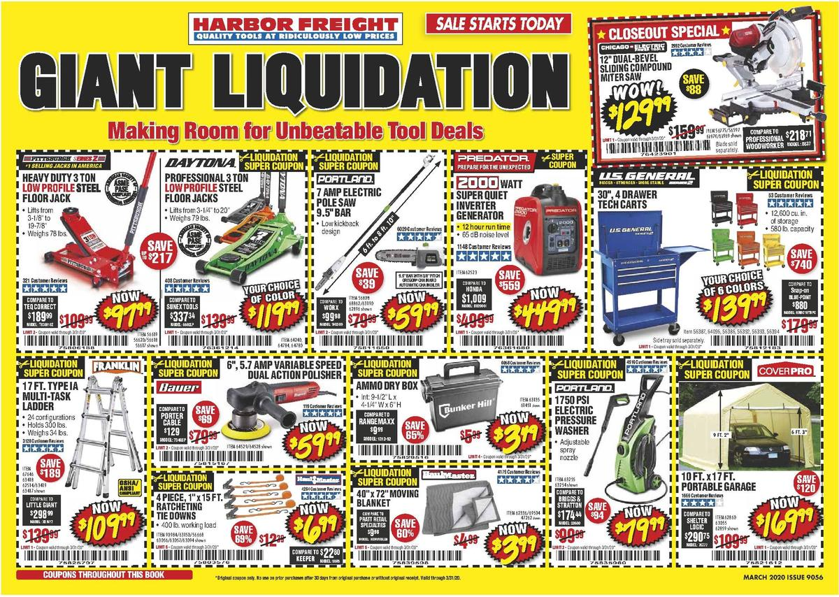 Harbor Freight Tools Weekly Ad from February 29