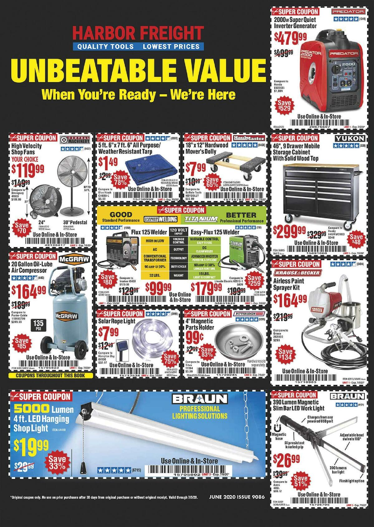 Harbor Freight Tools Weekly Ad from June 1